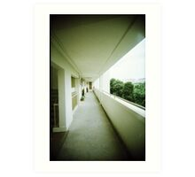 Corridor of Familiarity - Lomo Art Print