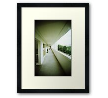 Corridor of Familiarity - Lomo Framed Print