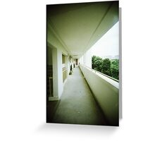 Corridor of Familiarity - Lomo Greeting Card
