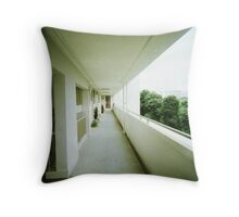Corridor of Familiarity - Lomo Throw Pillow