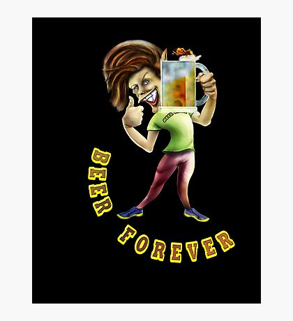 Beer Forever Photographic Print