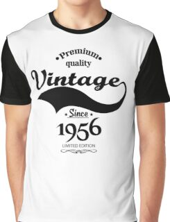 Premium Quality Vintage Since 1956 Limited Edition Graphic T-Shirt