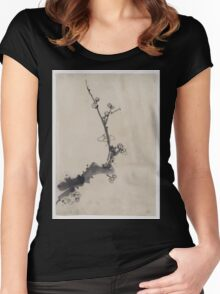 Fruit tree branch with blossoms 001 Women's Fitted Scoop T-Shirt