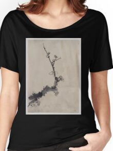 Fruit tree branch with blossoms 001 Women's Relaxed Fit T-Shirt