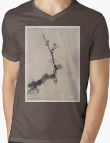 Fruit tree branch with blossoms 001 Mens V-Neck T-Shirt