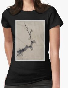 Fruit tree branch with blossoms 001 Womens Fitted T-Shirt