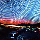 Death Valley Aurora Star Trails Over Car by Gavin Heffernan