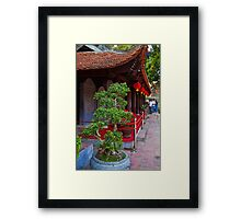 Vietnam. Hanoi. At the Temple of Literature. Framed Print