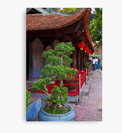 Vietnam. Hanoi. At the Temple of Literature. Canvas Print