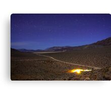 Overhead Death Valley Desert Lit by Moonlight and Stars Canvas Print