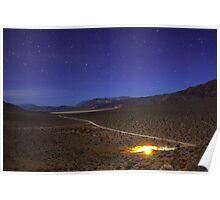 Overhead Death Valley Desert Lit by Moonlight and Stars Poster