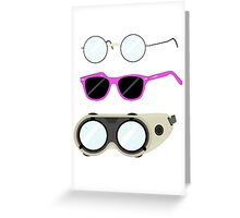 Glasses and Goggles- Potter/Starkid/Dr.Horrible Greeting Card