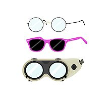 Glasses and Goggles- Potter/Starkid/Dr.Horrible Photographic Print