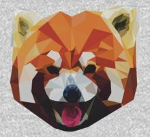 Red Panda Tee Shirt by mbps