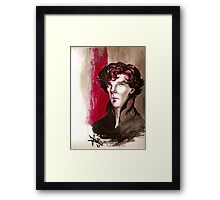 Sherlock - Into Darkness Framed Print