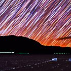 Star Trails Over Death Valley Racetrack Playa by Gavin Heffernan