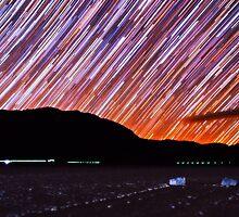 Star Trails Over Death Valley Racetrack Playa by Gavin Heffernan
