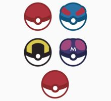 Pokeball Stickers by eveningshadow