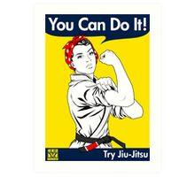 Try Jiu-Jitsu Art Print