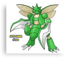 Scyther #123 Canvas Print