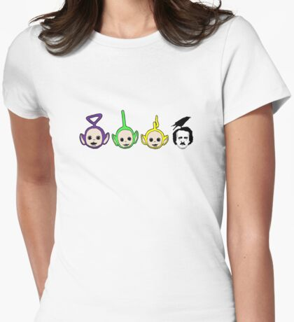 Tinky winky, dipsy, la la, poe Womens Fitted T-Shirt