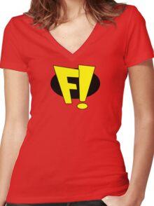 freakazoid logo Women's Fitted V-Neck T-Shirt