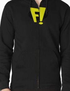 freakazoid logo Zipped Hoodie