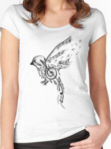 Musical bird  Women's Fitted Scoop T-Shirt