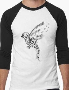 Musical bird  Men's Baseball ¾ T-Shirt