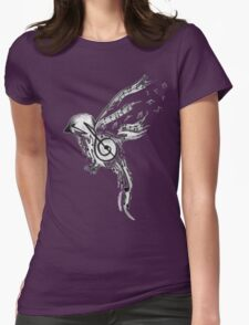 Musical bird  Womens Fitted T-Shirt