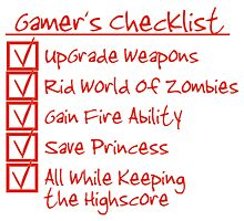 Gamer Checklist by Mehdals