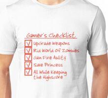 Gamer Checklist Unisex T-Shirt