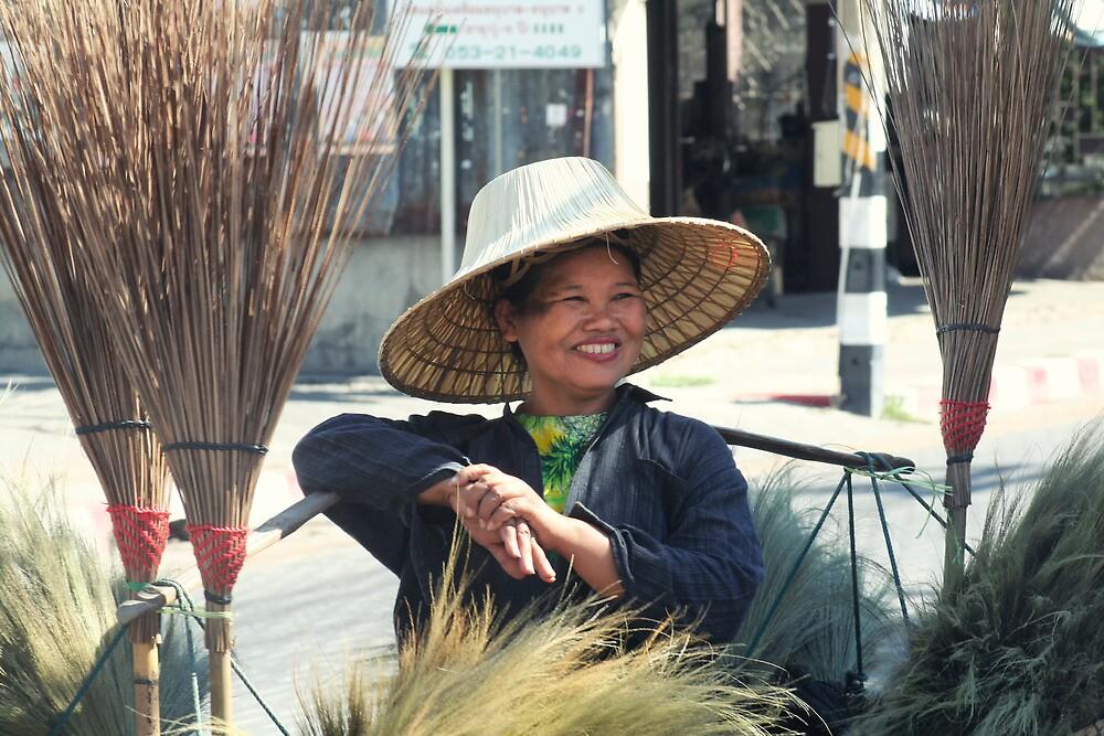 Broom seller  by areyarey