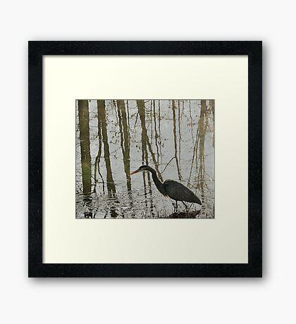 Reflection on the Hunt Framed Print