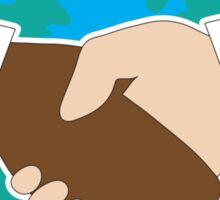 World Hand Shake Sticker