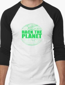 Hack The Planet Men's Baseball ¾ T-Shirt