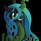 LOVE ME Chrysalis Poster (My Little Pony: Friendship is Magic) by broniesunite