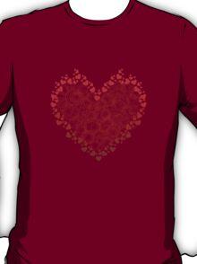 Heart Circles Valentines Day T-Shirt