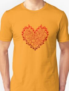 Heart Circles Valentines Day Unisex T-Shirt
