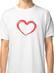 Inked Heart Valentines Day Classic T-Shirt