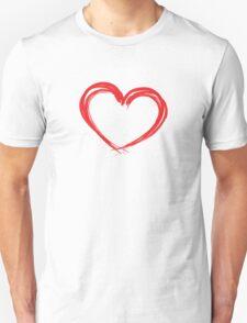 Inked Heart Valentines Day Unisex T-Shirt