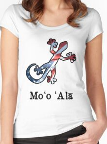 All American Hawaiian Gecko Women's Fitted Scoop T-Shirt