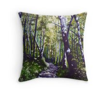 'Summer Woods (Moses Cone State Park, NC)' Throw Pillow