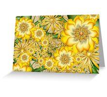 Yellow Orbit Trap Flowers Greeting Card