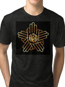 Symbol of Jainism in gold  Tri-blend T-Shirt