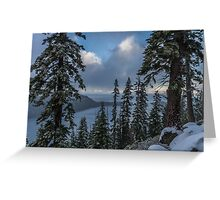 A Winter View - Emerald Bay Road Greeting Card