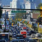 Rush Hour on Cambie Street by Wolf Read