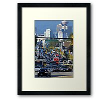 Rush Hour on Cambie Street Framed Print