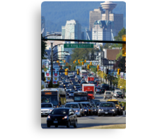 Rush Hour on Cambie Street Canvas Print