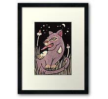 Sugar Spun Sith Cat Framed Print